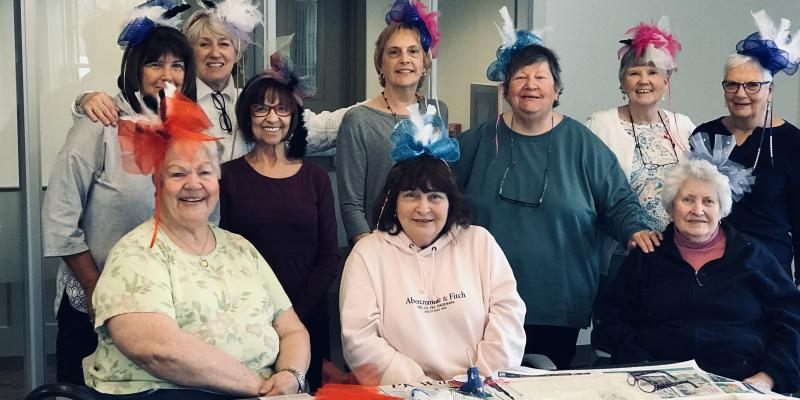 """Some of our ladies made """"fascinators"""" for the Kentucky Derby!"""